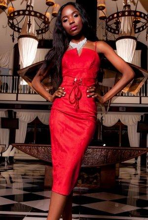 Платье Бюстье красный