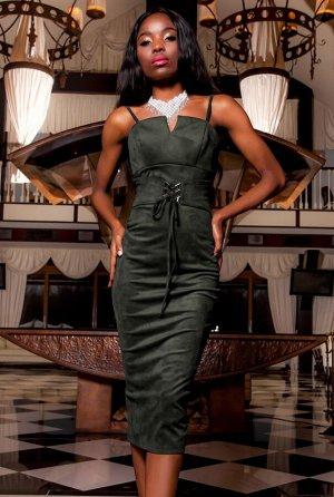 Платье Бюстье хаки