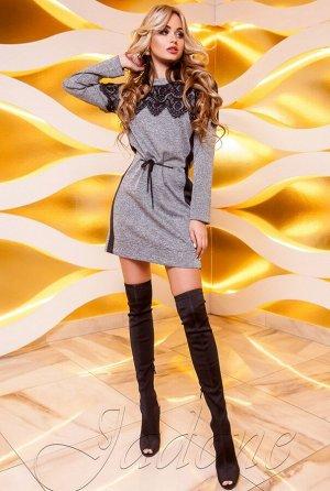 Платье-туника Эрика серый