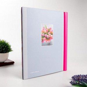 """Фотоальбом магнитный 23Х28 см 10 листов """"Розовые цветы"""""""