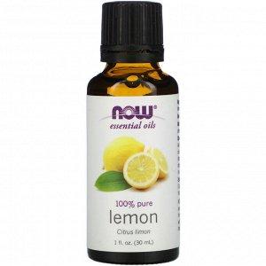 Now Foods, Эфирные масла, лимон, 30 мл