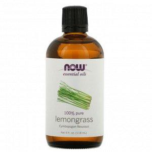 Now Foods, эфирные масла, лемонграсс, 118 мл (4 жидких унции)