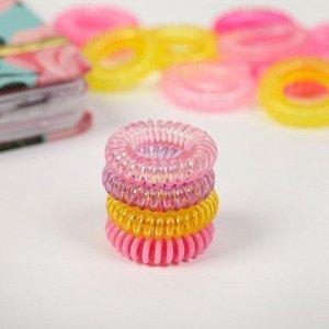 Набор резинок для волос «Пружинка мини», русалка, 5 х 6,5 х 4,2 см
