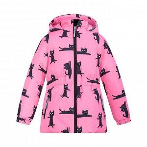 Куртка розовая, котики ВК 38032/н/2 ГР