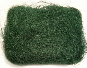 Сизаль натуральная 100 гр уп цвет темно-зеленый
