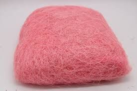 Сизаль натуральная 100 гр уп цвет розовый