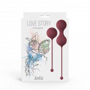 Набор вагинальных шариков Love Story Carmen Wine Red