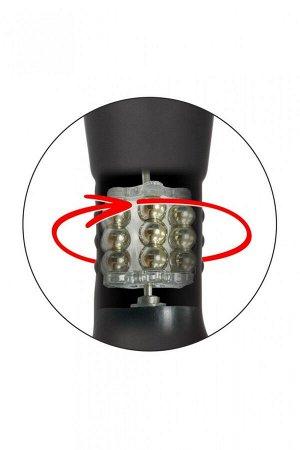 Анальный вибро-стимулятор с римминг эффектом на ДУ (браслет) ECLIPSE (12 режимов, 2 мотора)