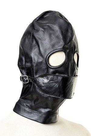 Кожаный шлем с отстегивающимся клапаном TOYFA Theatre