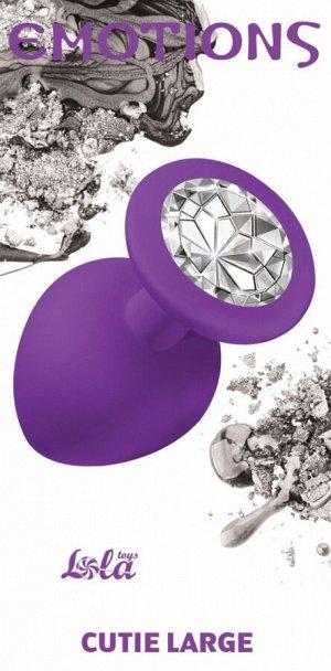 Большая силиконовая пробка с прозрачным кристаллом Cutie Large