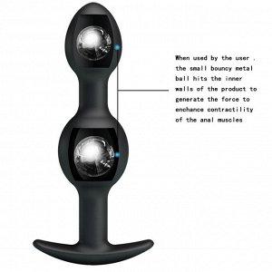 Анальная втулка для ношения со смещенным центром тяжести Silicone Anal Balls