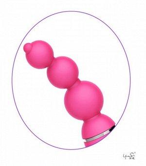 Вращающийся стимулятор ануса с шариками Barbara (6 режимов)