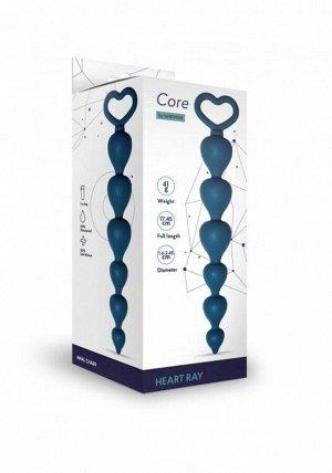 Анальная цепочка с кольцом Heart Ray