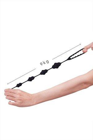 Гибкая спиралевидная анальная цепочка с эрекционным кольцом LALA