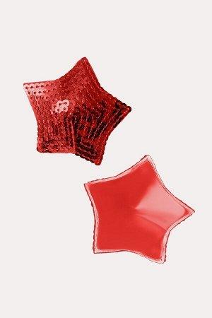 Пестис звезды из пайеток красные Erolanta