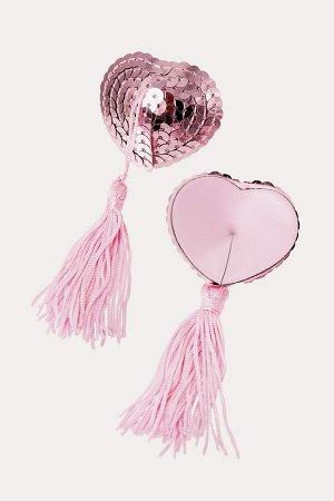 Пестис сердечки из пайеток розовые Erolanta