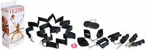 Набор фиксаторов с креплением для кровати Bondage Belt Restraint System