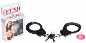 Черные металлические наручники Designer Cuffs