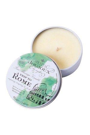 Массажная свеча Petits JouJoux Mini Rome с ароматом грейпфрута и бергамота (43 мл)