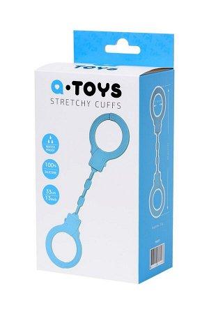Голубые силиконовые наручники A-Toys