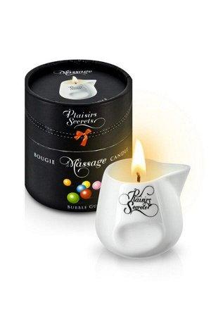 Массажная свеча с ароматом жевательной резинки Bougie Massage Candle (80 мл)