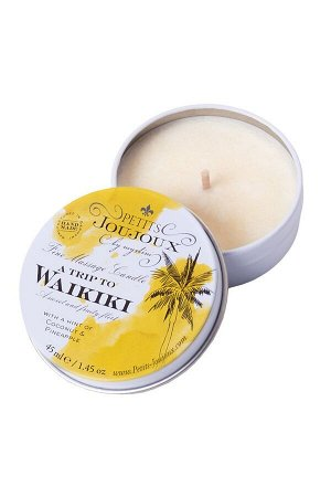 Массажная свеча Petits JouJoux Mini Waikiki beach с ароматом Пина колады (43 мл)