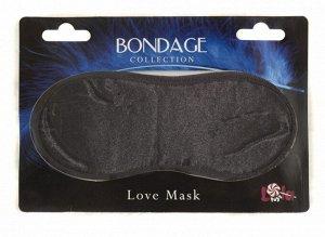 Сатиновая маска на глаза Love Mask