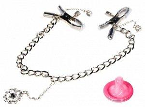 Регулируемые зажимы для сосков с украшением Crystal Nipple Clamps