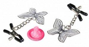 Регулируемые зажимы для сосков с бабочками Butterly Nipple Clamps