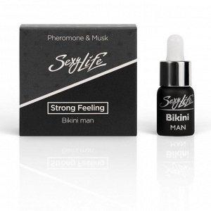 Мужской ароматизирующий концентрат феромонов с мускусом для зоны бикини Strong Feeling (5 мл)