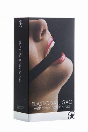 Кляп-шарик на эластичном креплении Elastic Ball Gag серии OUCH!
