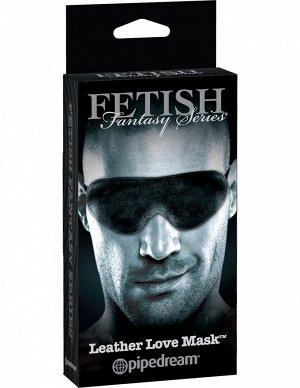 Кожаная маска на глаза Leather Love Mask