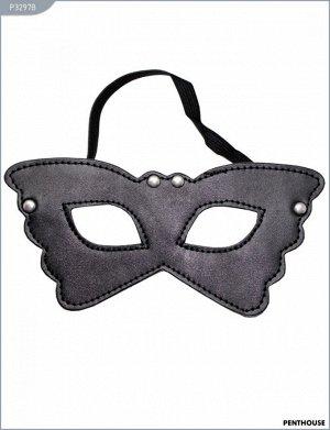 Маска на глаза черная Butterfly на подкладке