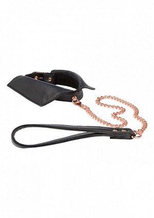 Стильный ошейник-воротничок Chelsea Collar with Leash с золотистой цепью-поводком