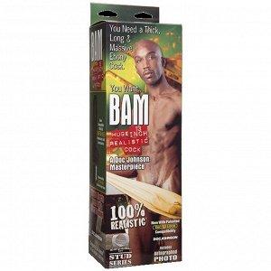 Гигантский фаллос-насадка BAM HUGE REALISTIC COCK со съемной присоской