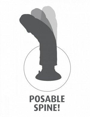 Большой реалистичный вибратор 9'' Vibrating Cock