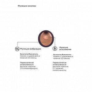 Интенсивный вакуумный вибромассажер клитора Irresistible Invincible (11 реж. интенсив., 10 реж. вибрации)