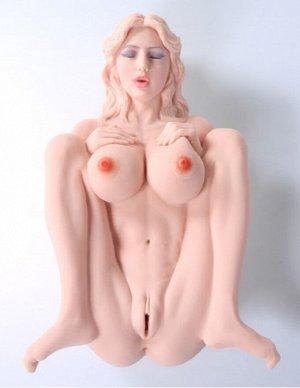 Мастурбатор в виде большегрудой куколки Victoria (2 отверстия)