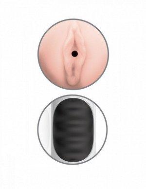 Мастурбатор в тубе с вибрацией Pussy Stroker (10 режимов)