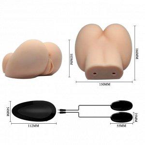 Мастурбатор вагина-анус с вибрацией Crazy Bull Busty Butt