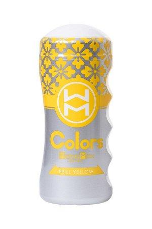 Мастурбатор нереалистичный в колбе Colors Frill Yellow MensMax