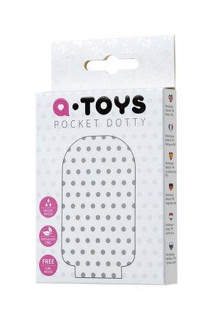 Одноразовый карманный мастурбатор с рельефом внутри Pocket Dotty