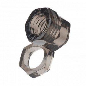 Насадка на пенис с кольцом для мошонки Screw Me The Big Socket Ring