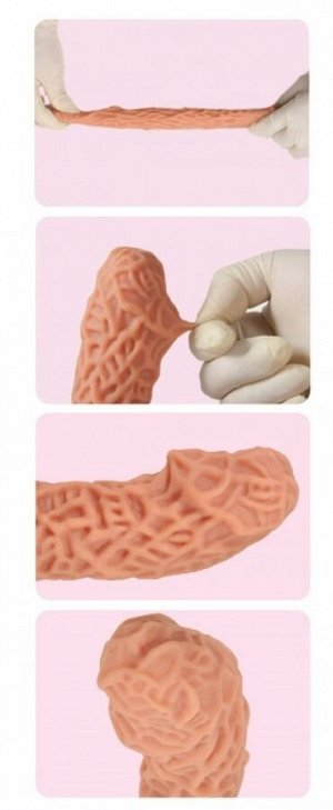 Расширяющая насадка с рельефом на пенис KOKOS (вторая кожа)