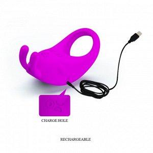 Мощное перезаряжаемое эрекционное виброкольцо PrettyLove Rabbit Vibrator (7 режимов)