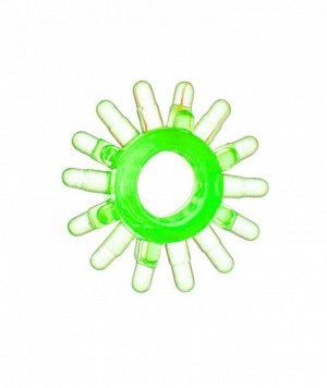 """Эрекционное зеленое кольцо на пенис """"Солнце"""""""
