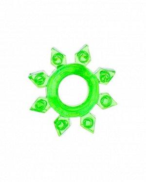 """Эрекционное зеленое кольцо на пенис """"Снежинка"""""""