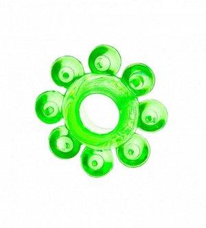 """Эрекционное зеленое кольцо на пенис """"Цветок"""""""