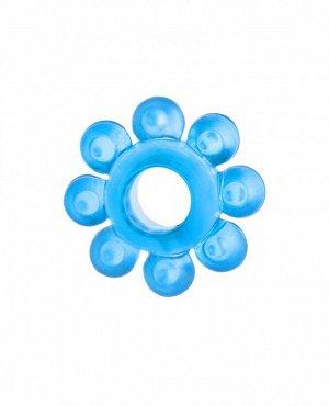 """Эрекционное голубое кольцо на пенис """"Цветок"""""""