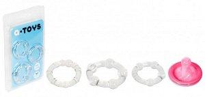 Набор эластичных эрекционных колец A-Toys (прозрачный)
